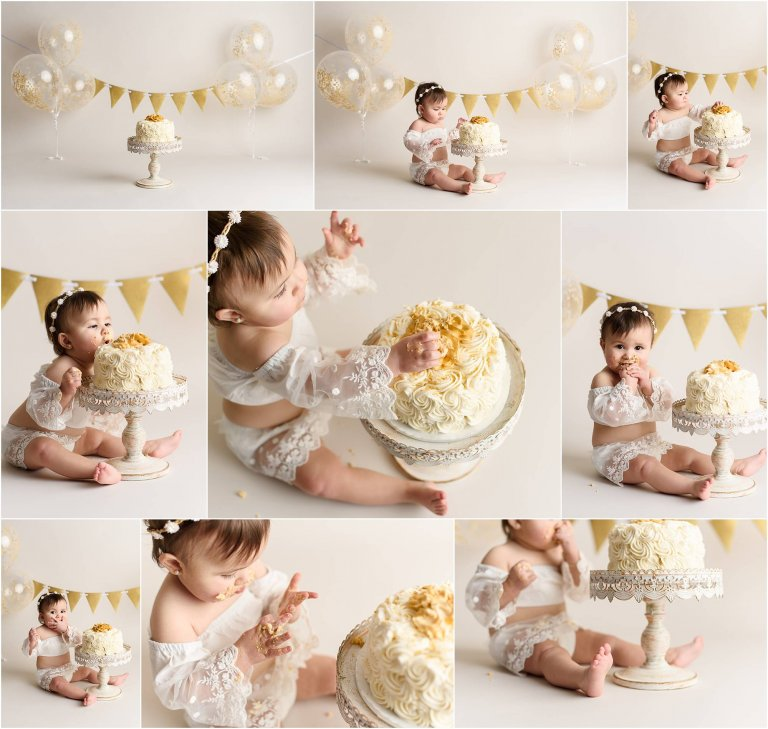 boho cake smash session by crystal satriano scranton's photographer