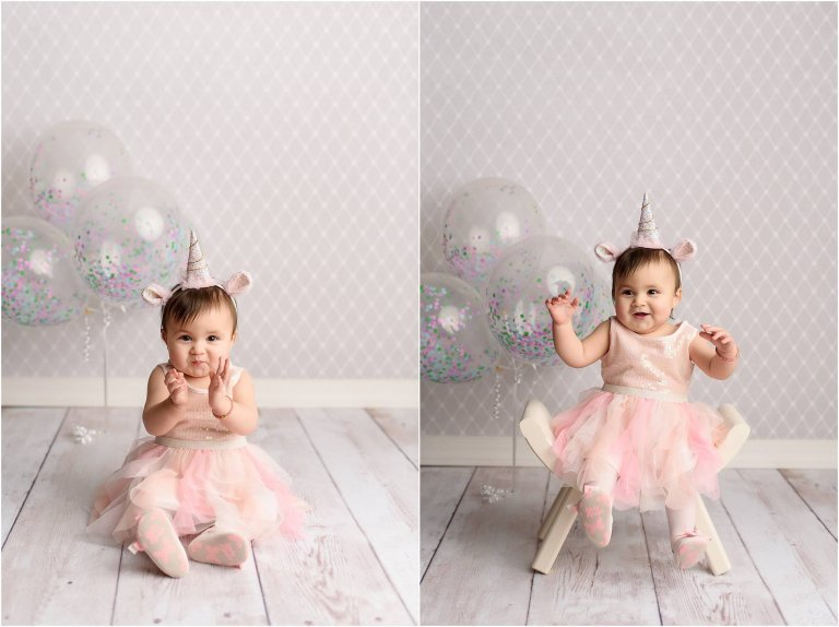 unicorn headband first birthday session scranton pa photographer
