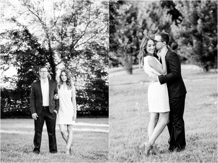 Black and White photo of couple together at Kirby Park by Enagement Photographer Wilkes Barre PA Crystal Satriano