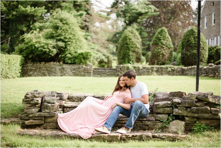 Pittston PA maternity photographer pregnant couple photo by Crystal Satriano Photography