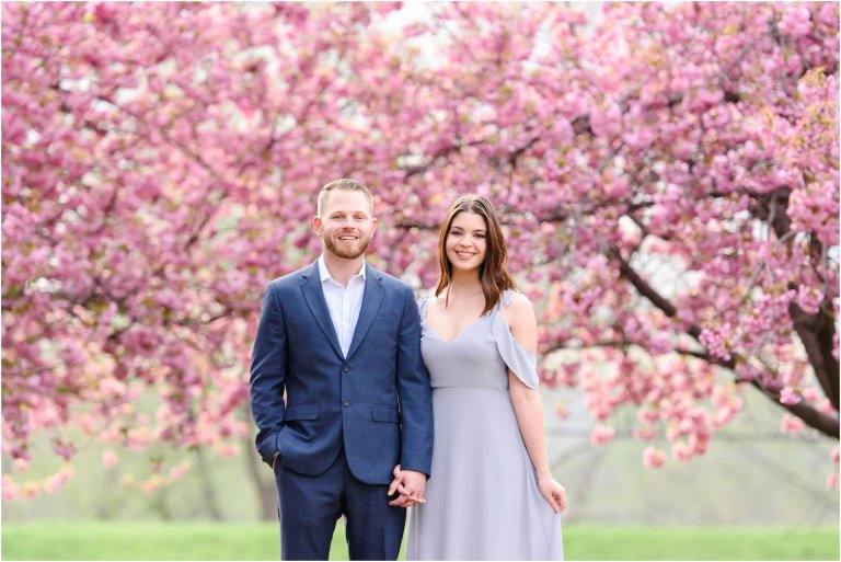 cherry blossoms wilkes barre engagement session by Crystal Satriano
