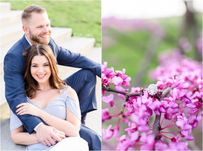 wilkes barre engagement session engagement ring