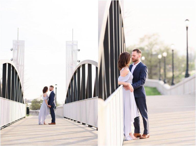 wilkes barre engagement session riverfront photos