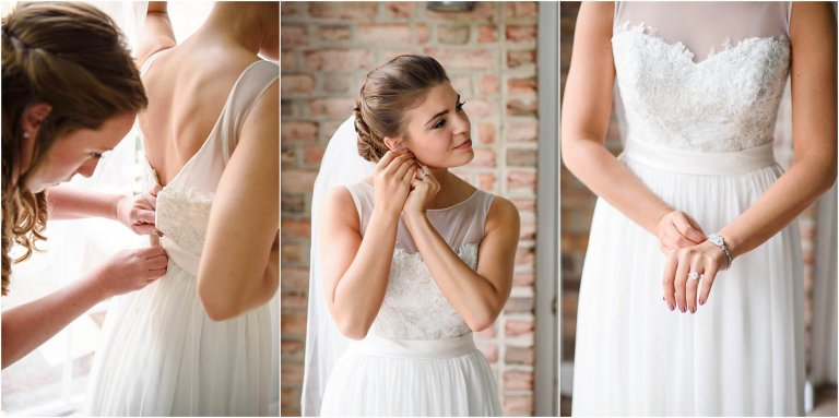 bride getting ready wilkes barre pa wedding photographer