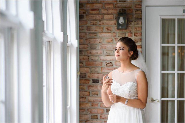 bride sprays perfume scranton wedding photographer