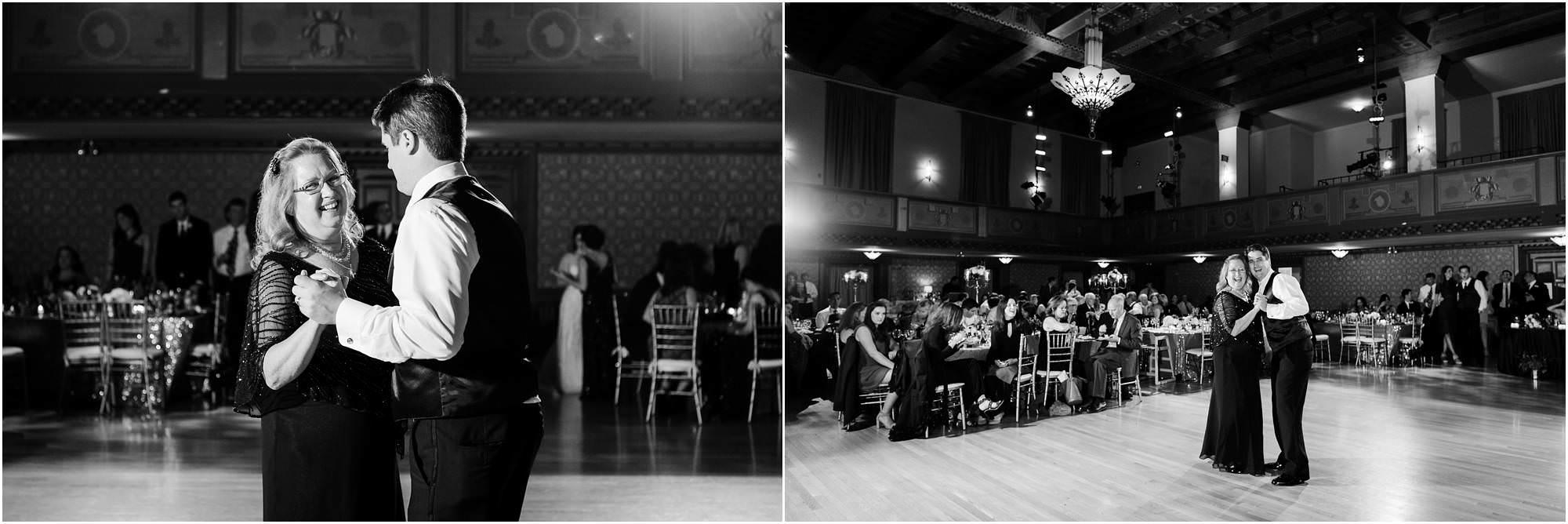 Scranton Cultural Center Wedding Reception Mother Son Slow Dance