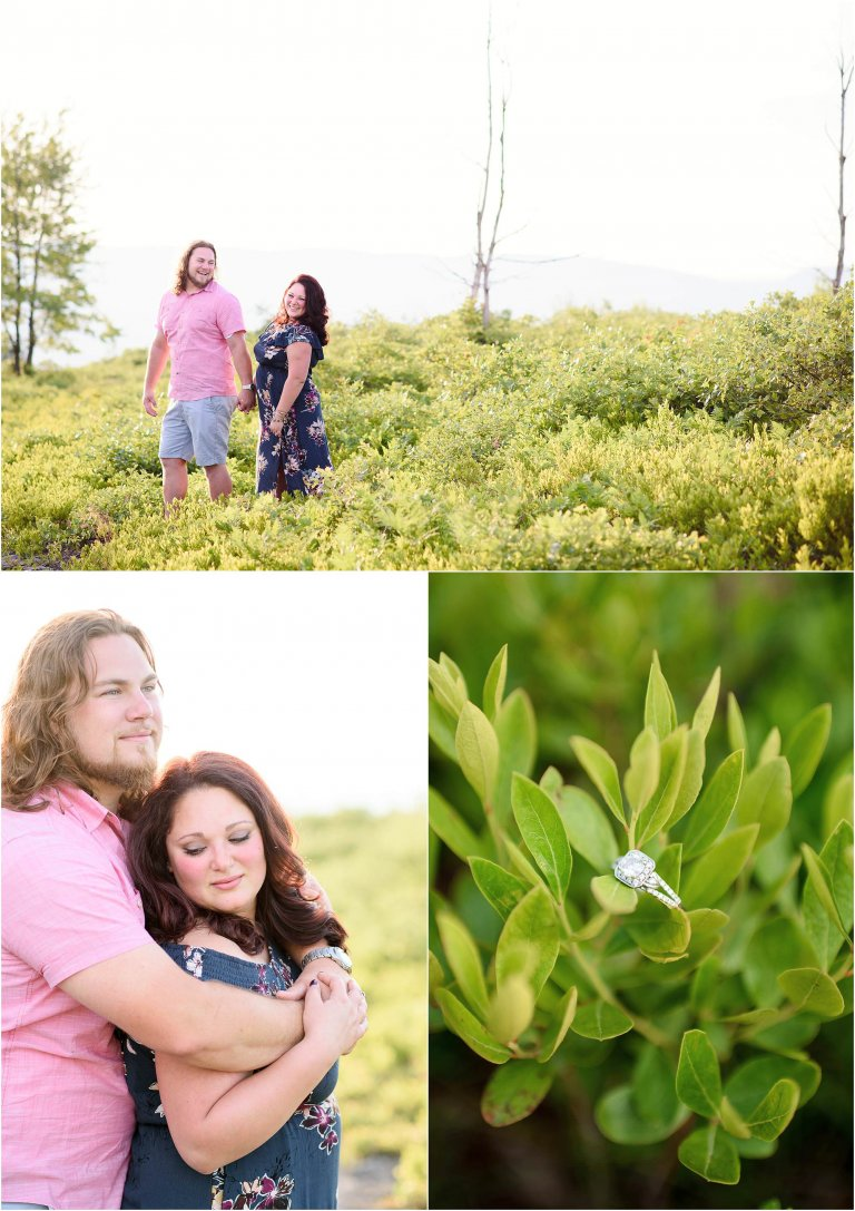 NEPA photographer Crystal Satriano on an engagement session hike.